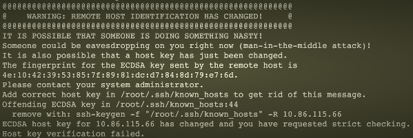 Linux: SSH报错 WARNING: REMOTE HOST IDENTIFICATION HAS CHANGED! 解决方案, Remove key from known_hosts, Fix Offending key in ~/.ssh/known_hosts file