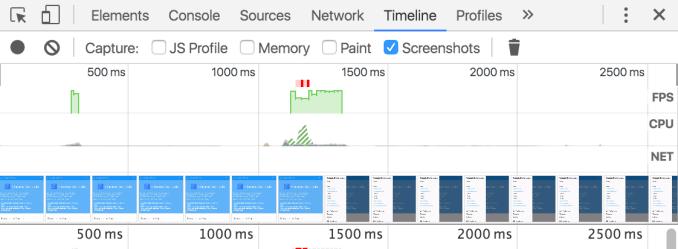 如何使用 Timeline 工具, chrome插件, 网站调试工具
