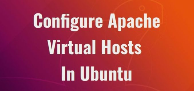 Ubuntu 18.04:多域名绑定同一IP, 配置Apache虚拟主机, 同一ip绑定多域名, Configure Apache Virtual Hosts