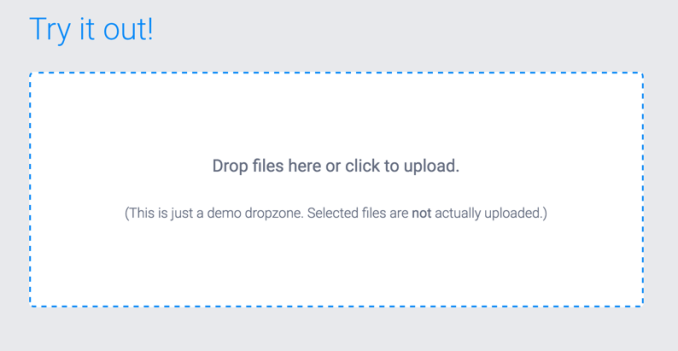 DropzoneJS 使用指南,文件拖拽上传, JavaScript 文件拖拽上传插件 dropzone.js, File Upload Form using DropzoneJS and PHP