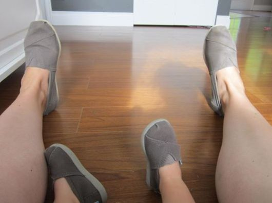 Hanging out with my niece, clad in matching TOMS