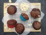 Double Chocolate Chip Muffins Presented