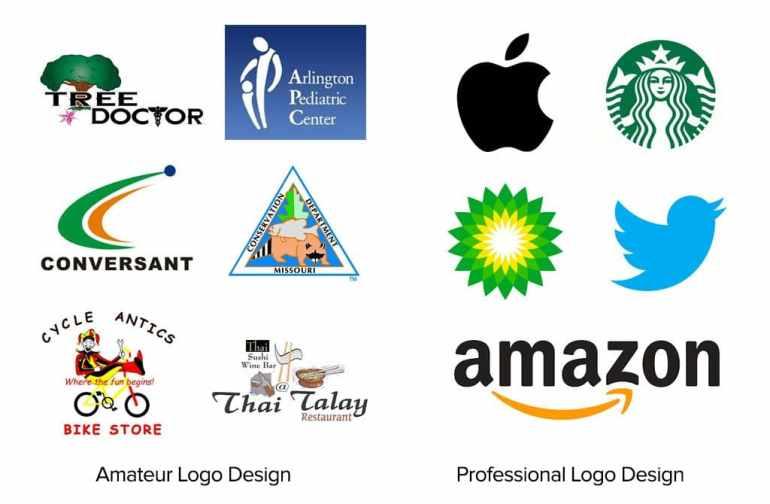 Amateur vs Pro Logo Design