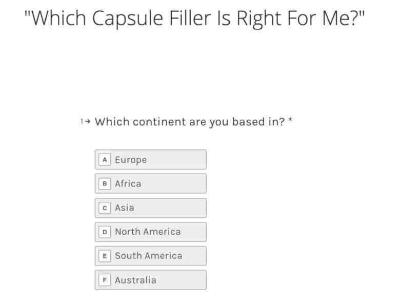 LFA Capsule Filler Quiz - Contenuti interattivi - Marketing digitale nel 2020