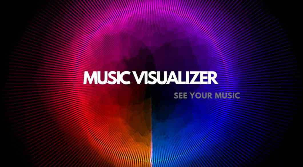Music visualizer designed by graphic designer for YouTube channel