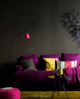 Charcoal grey is natural pairing with Radiant Orchid