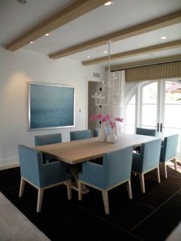 diningroom artificial beam ceiling detail