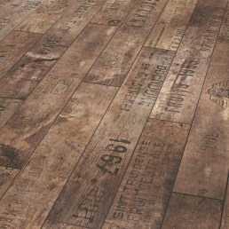 The look of reclaimed wood. Very cool!
