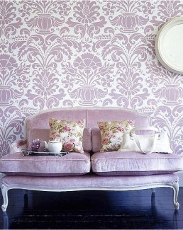 Coordinating wallpaper color adds punch