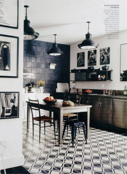 Mix and match industrial style elements for that bistro style
