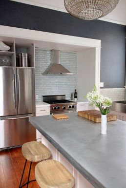 concrete counter in kitchen
