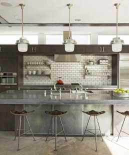 concrete-kitchen-counter waterfall counter tops