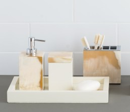 Mother of pearl bathroom accessories