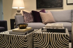 Inlay black and white animal print coffee tables
