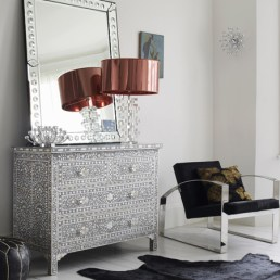 Gracious grey and white dresser