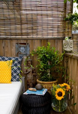 Even the smallest balcony can be a private retreat