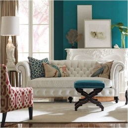 Lovely and easy on the eyes teal walls