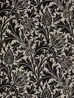 Black and white Morris thistle design pattern