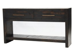 Solid wood console table with drawers