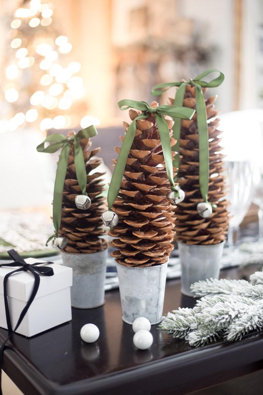 DIY Pinecone Trees Christmas Decor-2