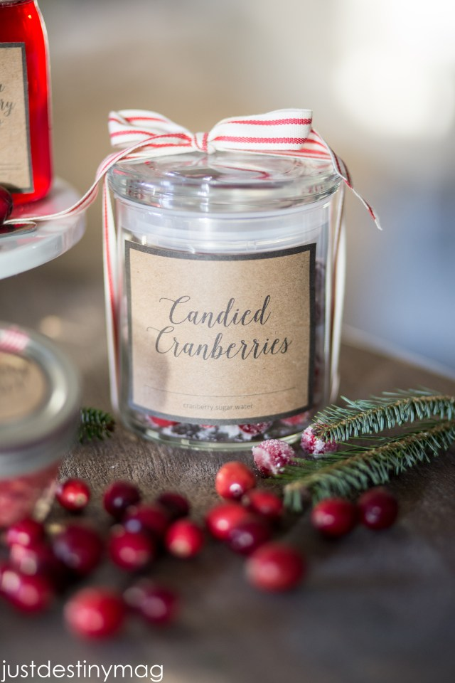 Candied Cranberries in a jar is a perfect gift for Christmas