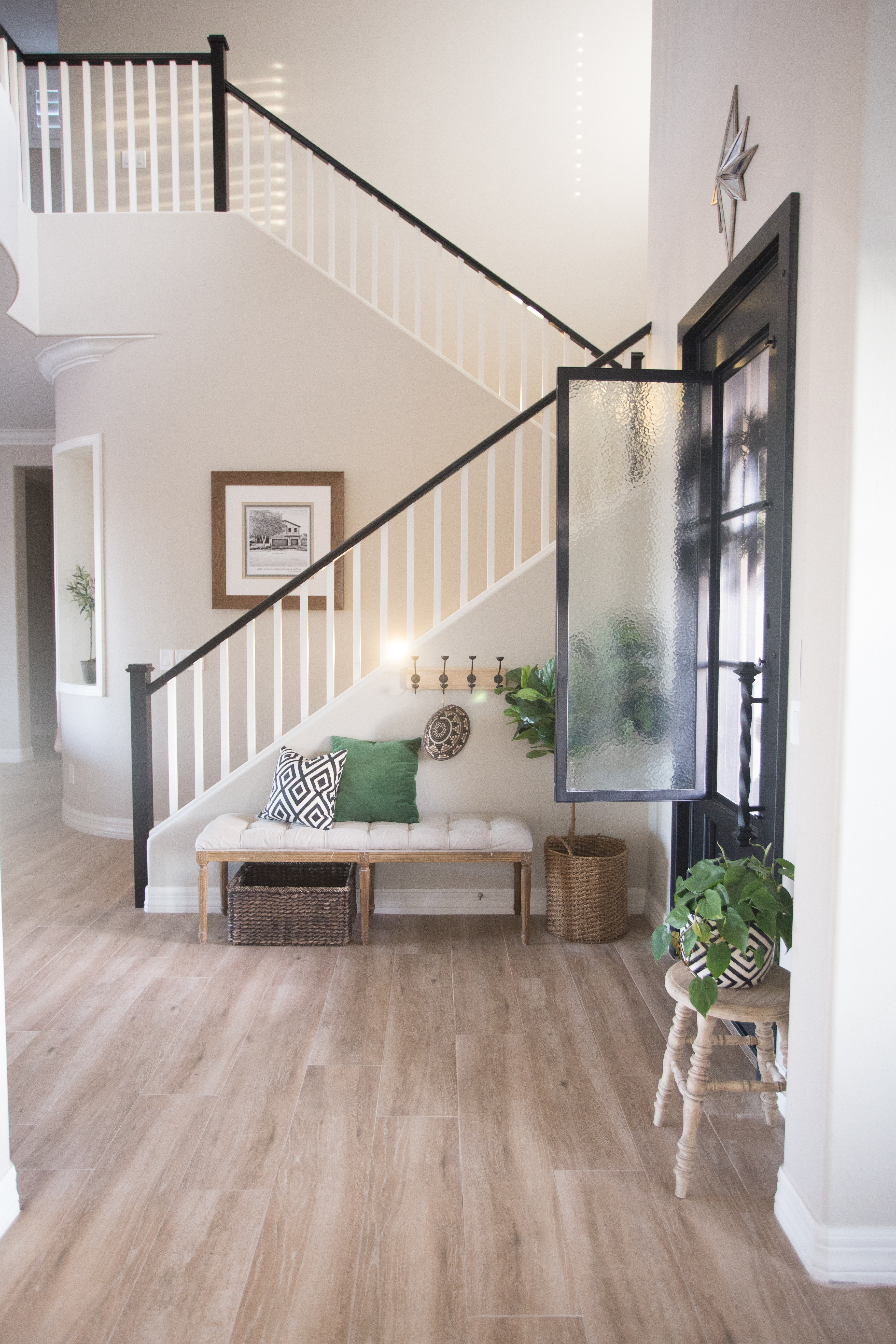 The Best Way To Paint Your Stair Rails Black Just Destiny | Painted Black Stair Railing | Carpet | High Gloss | Wall Both Side | Step | Colour Combination