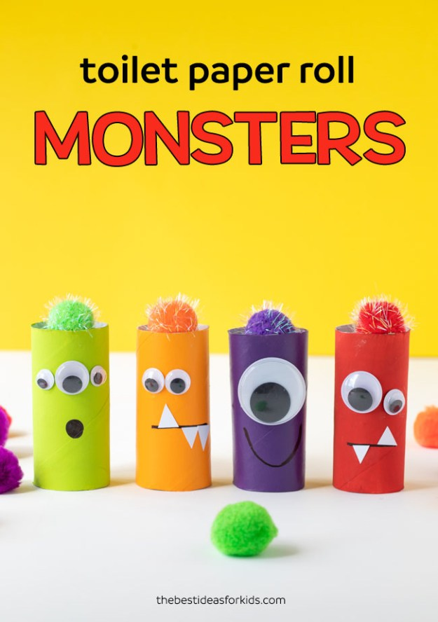 Toilet-Paper-Roll-Monsters-Craft-for-Kids