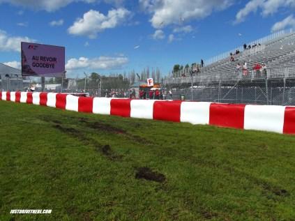The Sauber crash site, turn 2