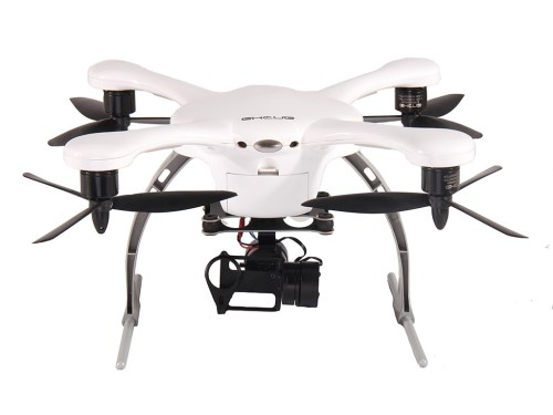 Ghost Quadcopter with 2D Gimbal in White