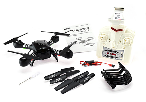 X-Drone Scout Wi-Fi FPV Quadcopter - In The Box