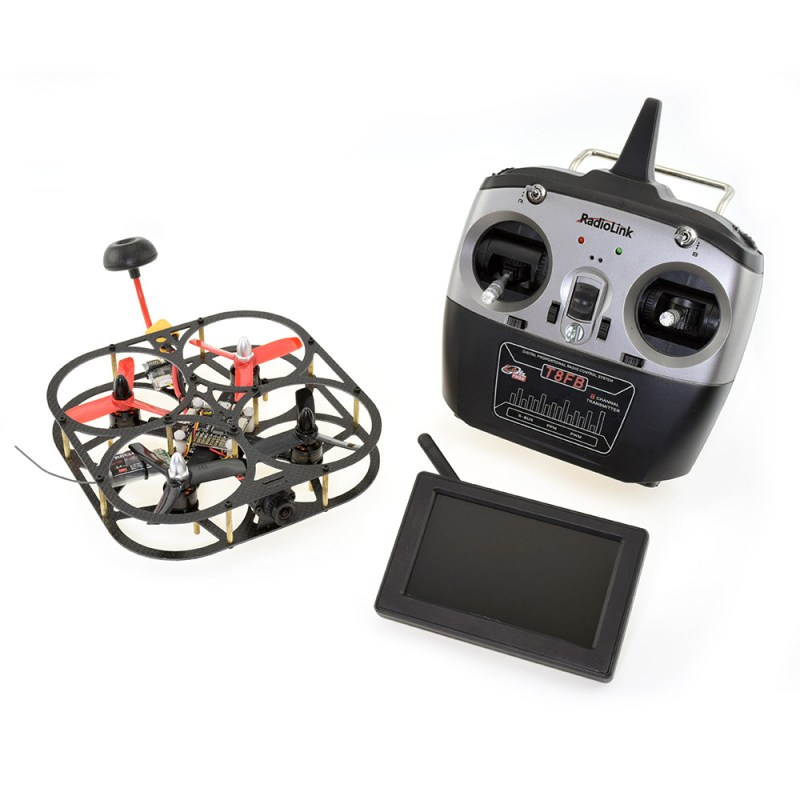 Caged Carbon Fibre 110 FPV Racing Drone with Controller and Screen
