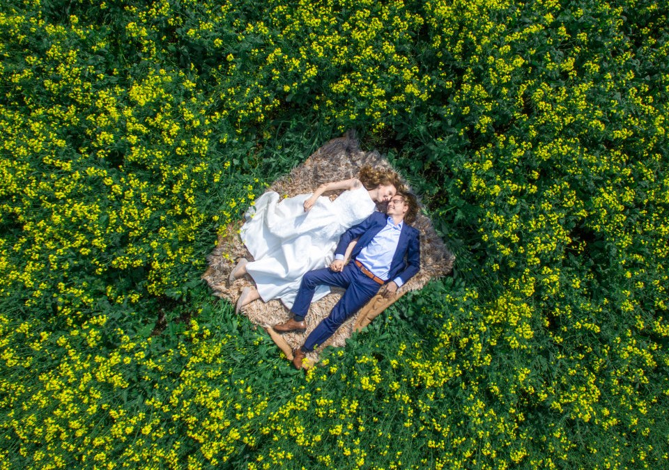 Drone Wedding Photo
