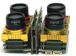 Each of MAPIR's Kernel camera modules are connected by their patented signal-distributing array link boards.