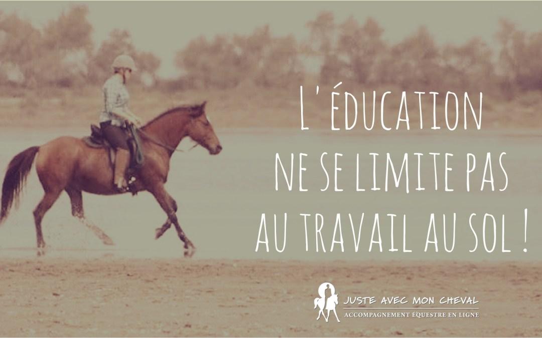 L'éducation ne se limite pas au travail au sol !