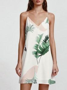 Robe imprimée tropicale