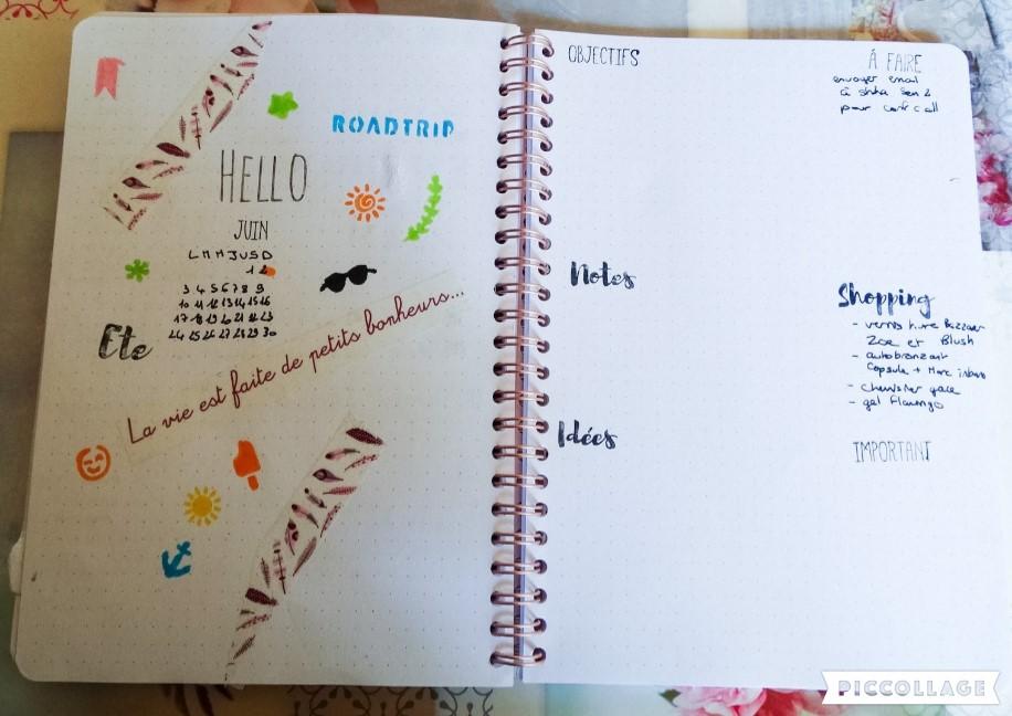 Bullet Journal : Setup de juin