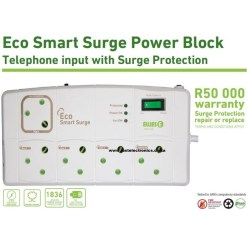 Ellies Eco Smart Surge Power Block With Telephone Input FBLPSG5
