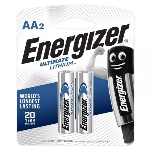 Energizer Ultimate Lithium AA Batteries Pack of 2