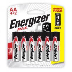 Energizer Max AA 1.5V Batteries 4+2 Free Bonus Pack