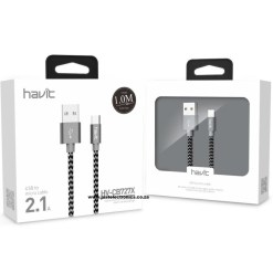 Havit HVCB727X 1 Meter Micro USB Woven Cable
