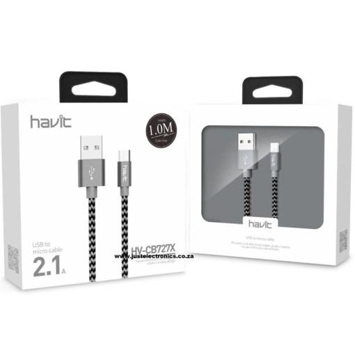 Havit HVCB727X 1 Meter Micro USB Woven Cable