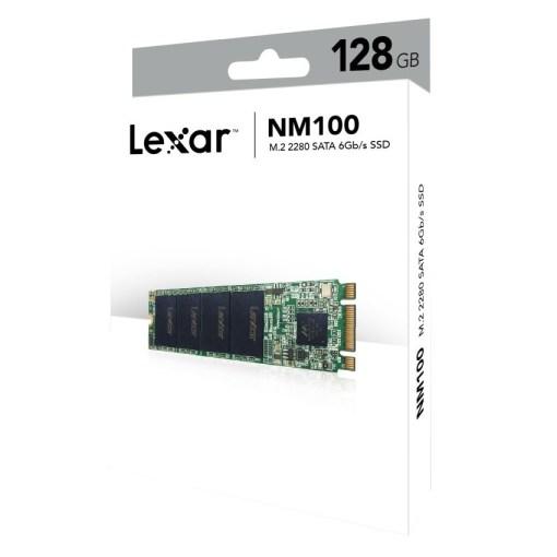 Lexar NM100 M.2 2280 SATA III 6Gbs 128GB SSD Box