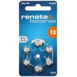 Renata 13 Zinc Air Hearing Aid Batteries