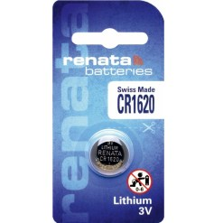 Renata CR1620 3V Lithium Battery Swiss Made