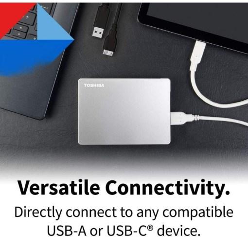 Toshiba Canvio Flex 1TB Versatile Connectivit HDTX110ESCAA