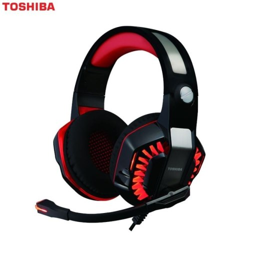Toshiba RZEG902H Gaming Headset With Virtual 7.1 Surround Sound Red