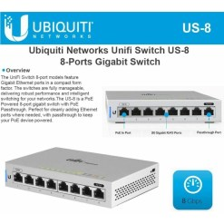 Ubiquiti UniFi 8 Port Gigabit Switch With PoE Passthrough