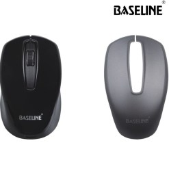Baseline 2.4GHz Wireless Optical Mouse Black With Spare Top Cover