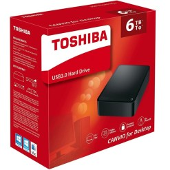 Toshiba 6TB Canvio For Desktop 3.5 inch USB 3.0 Hard Drive