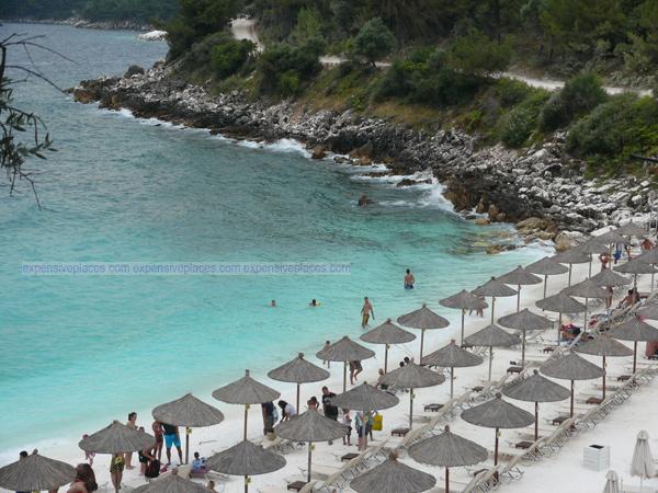 Marble Beach in Thassos Island, Greece